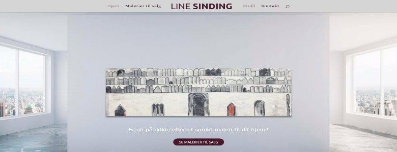 Hjemmeside til kunstner