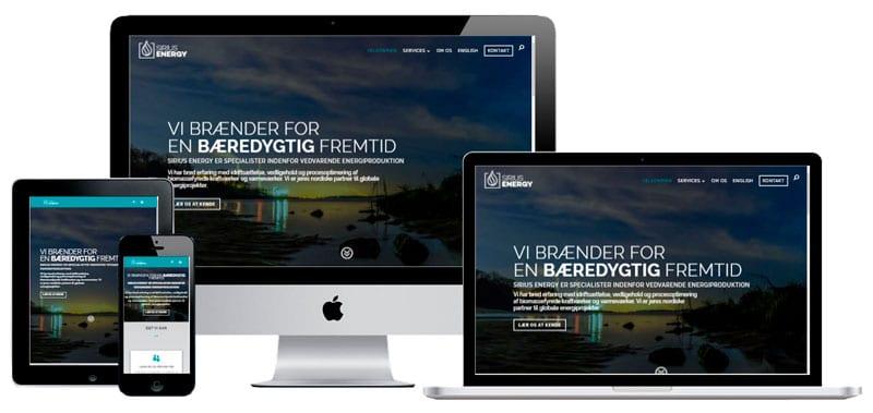 Hjemmeside til virksomhed -Responsivt design