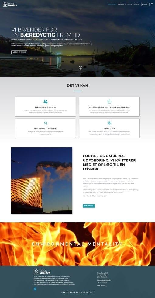 Hjemmeside til virksomhed forsiden