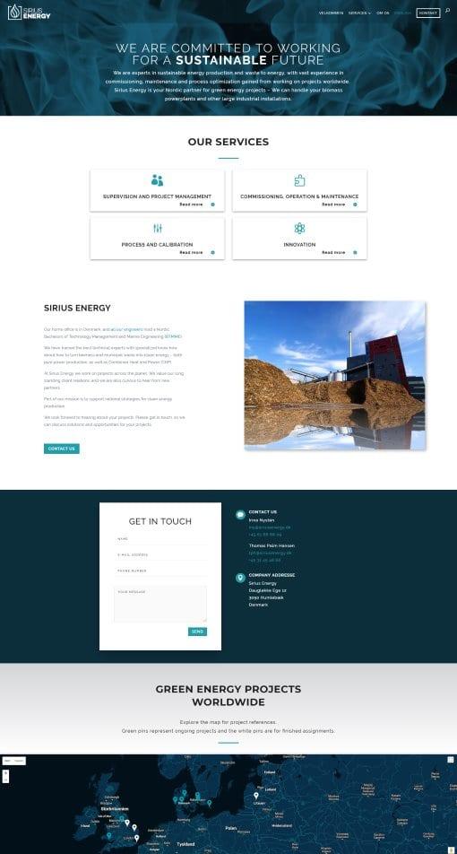 Hjemmeside til virksomhed - underside
